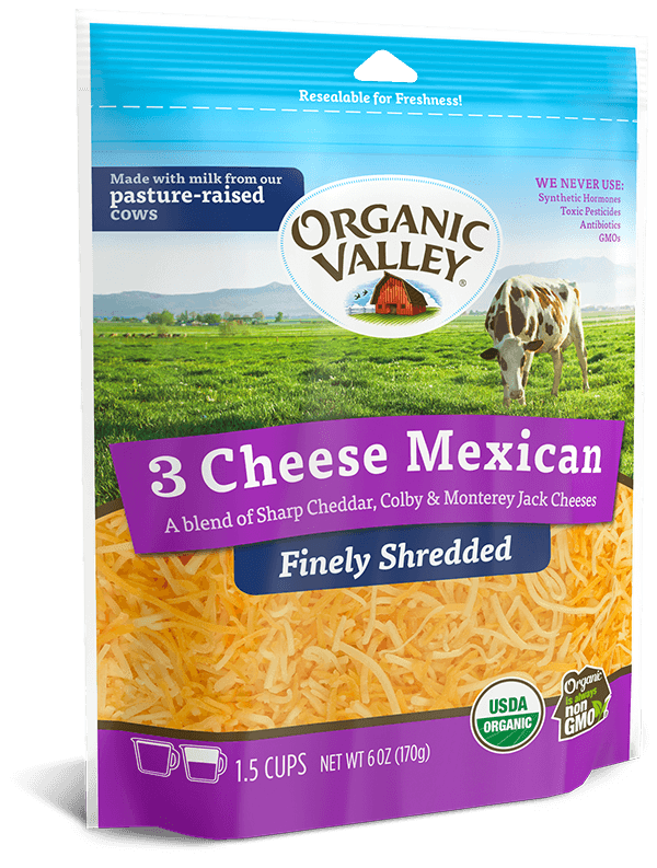 Finely Shredded 3 Cheese Mexican, 6 oz