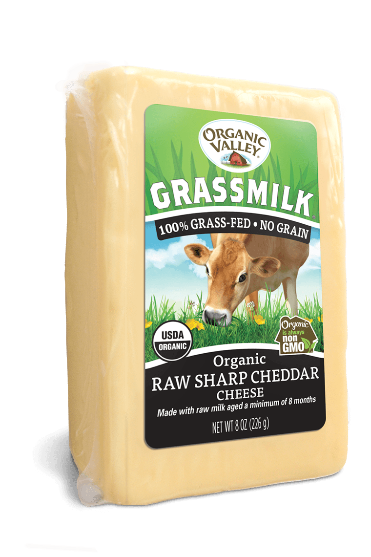 Grassmilk Raw Sharp Cheddar, 8 oz
