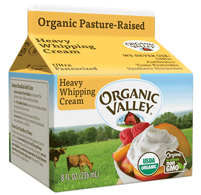 Heavy Whipping Cream, Ultra Pasteurized, 1/2 Pint