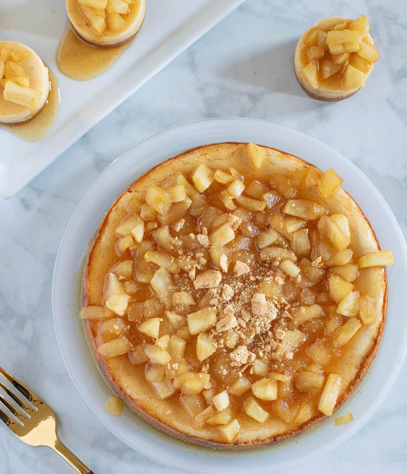Caramel Apple Spice Cheesecake