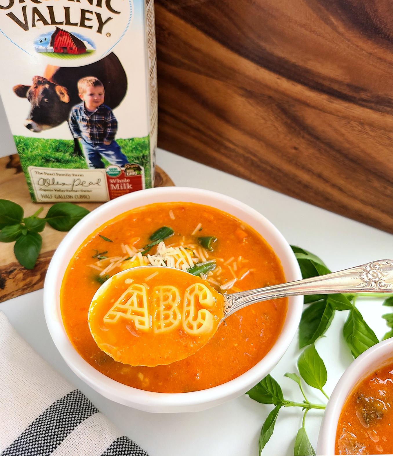 Creamy Tomato Alphabet Soup