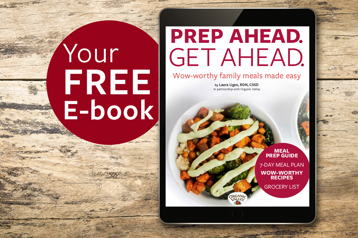 Sign up for Organic Valley emails and receive your free meal planning e-book.