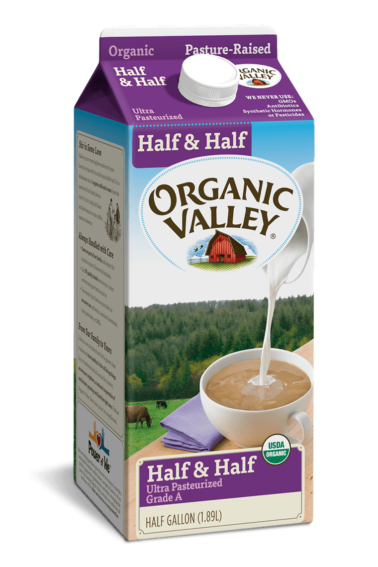 Half & Half, Ultra Pasteurized, Half Gallon