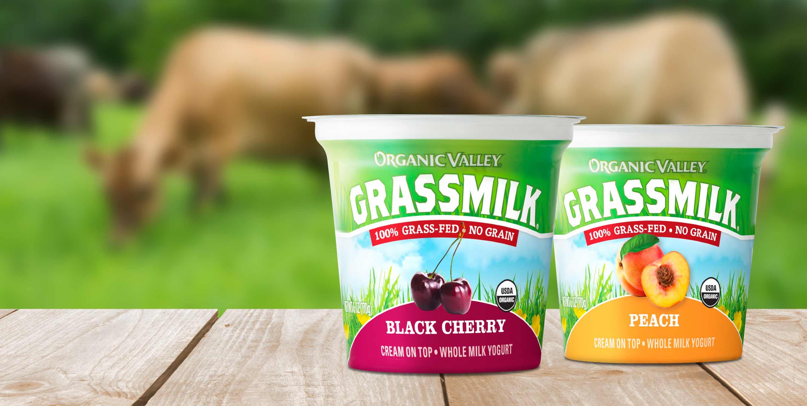 Organic Valley Introduces New Grassmilk® Yogurt Flavors: Black Cherry and Peach