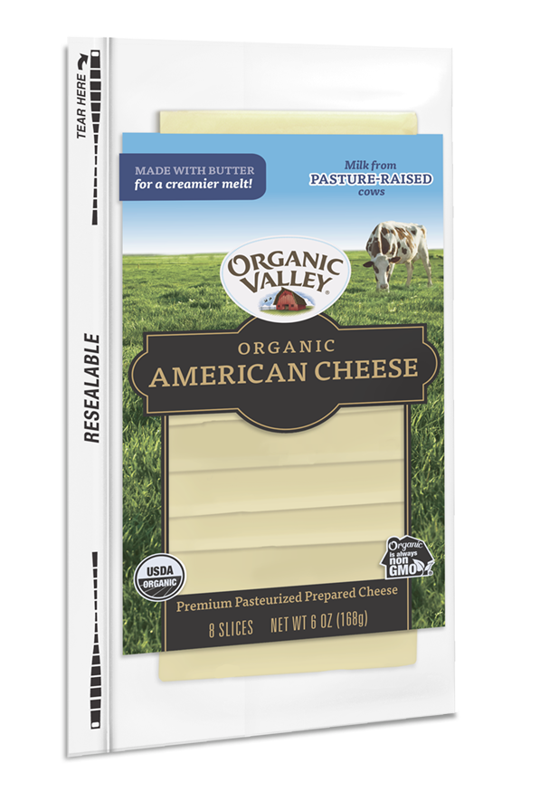 American Cheese Slices, White, 6 oz