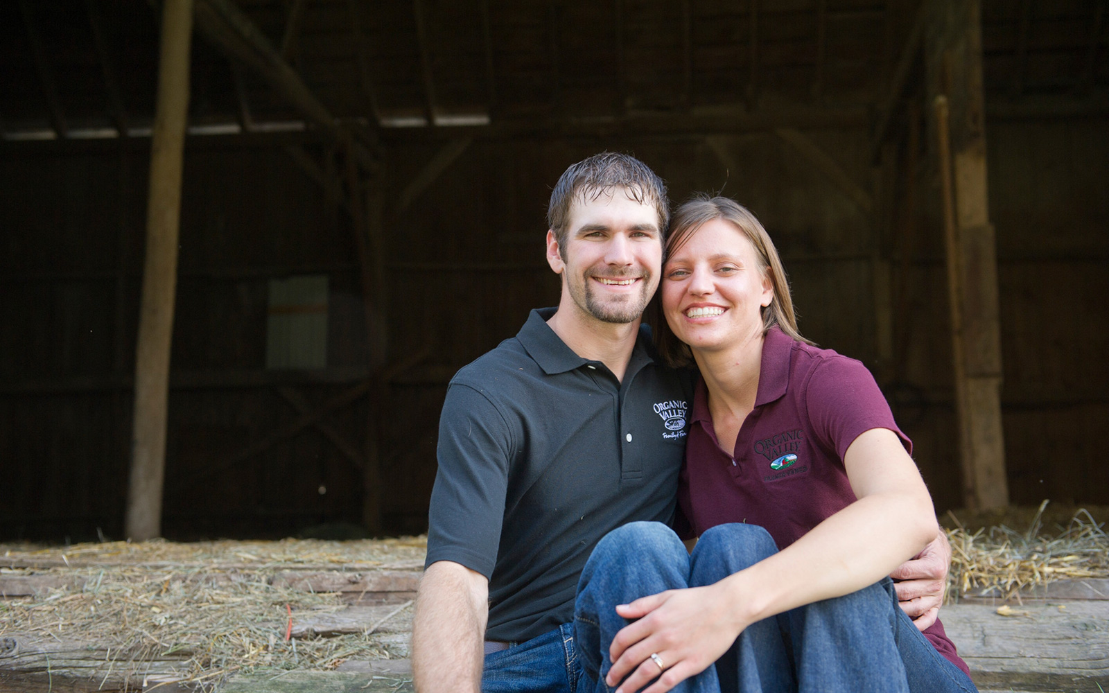 Emily and Tim Zweber are true partners on their farm, sharing the work and supporting one another.