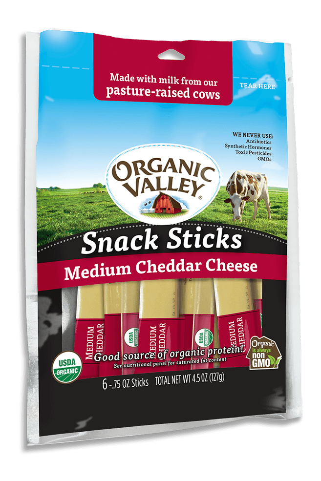 Medium Cheddar Snack Sticks