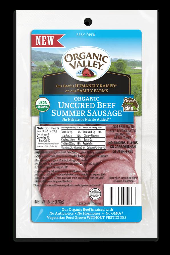 Uncured Beef Summer Sausage Slices