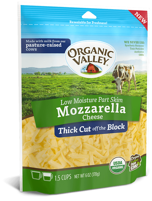 Thick Cut Shredded Low Moisture Mozzarella, Part Skim, 6 oz