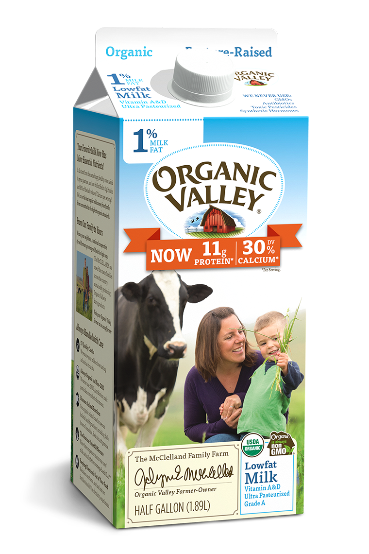 Lowfat 1% Milk, Ultra Pasteurized, Half Gallon