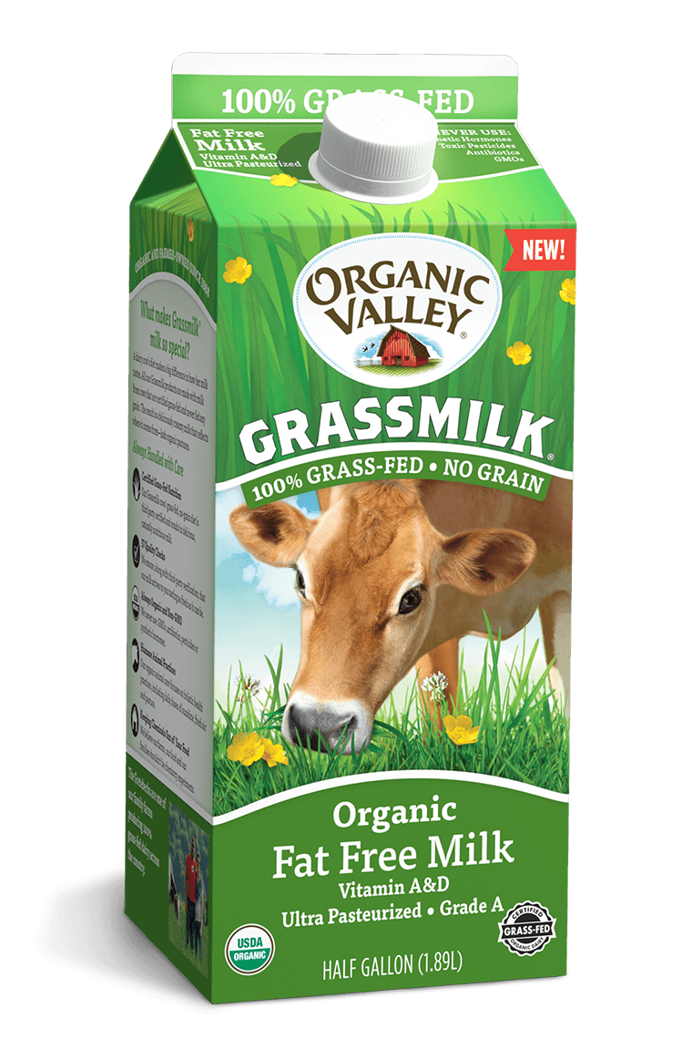 Fat Free Grassmilk, Half Gallon