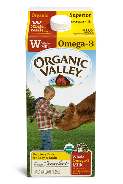 Omega-3 Whole Milk, Ultra Pasteurized, Half Gallon