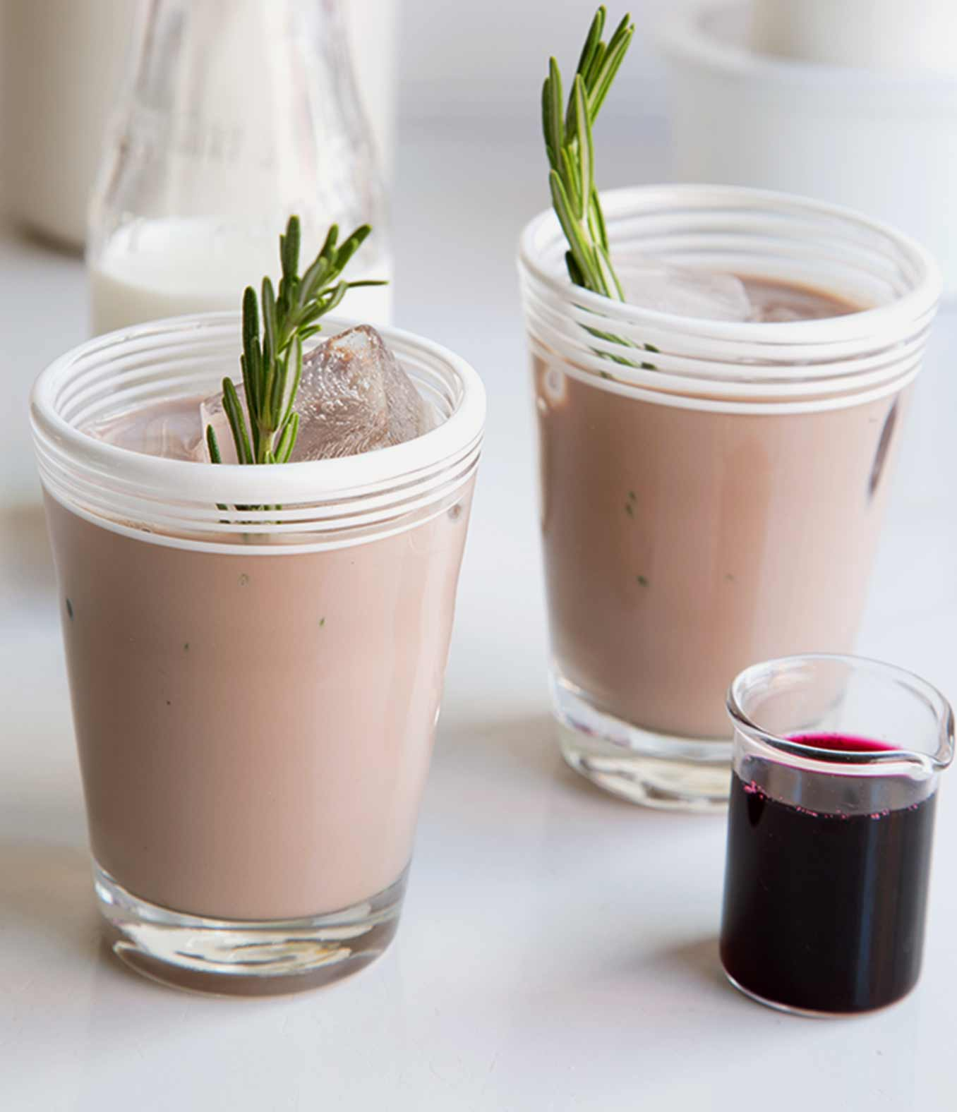 Blueberry Iced Coffee with Rosemary