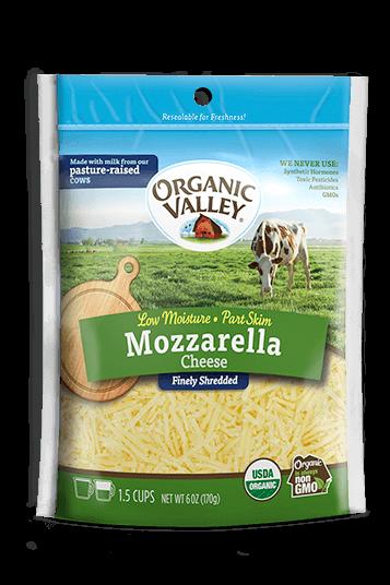 Shredded Low Moisture Mozzarella, Part Skim, 6 oz