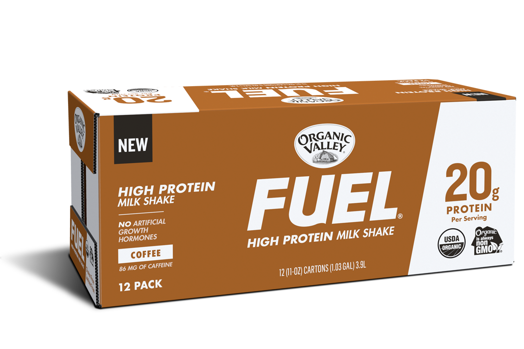 Coffee Organic Fuel Protein Shake, 12 pack