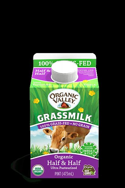 Grassmilk Half & Half, Pint
