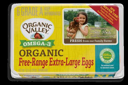 Extra Large Omega-3 Eggs, Half Dozen