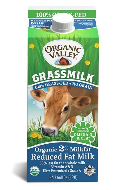 Reduced Fat 2% Grassmilk, Half Gallon