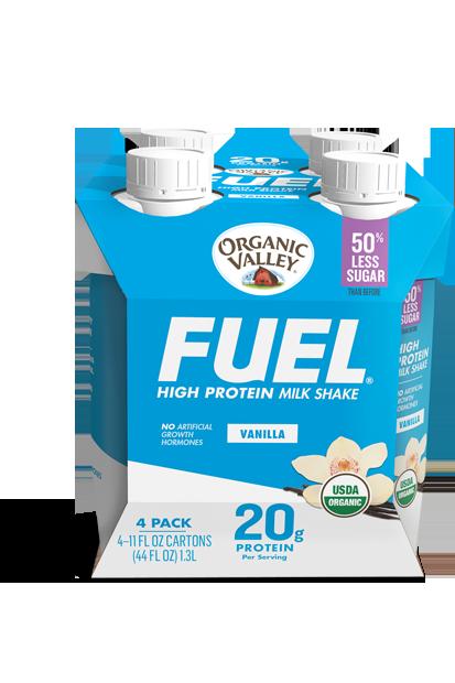 Vanilla Organic Fuel Protein Shake, 4 pack