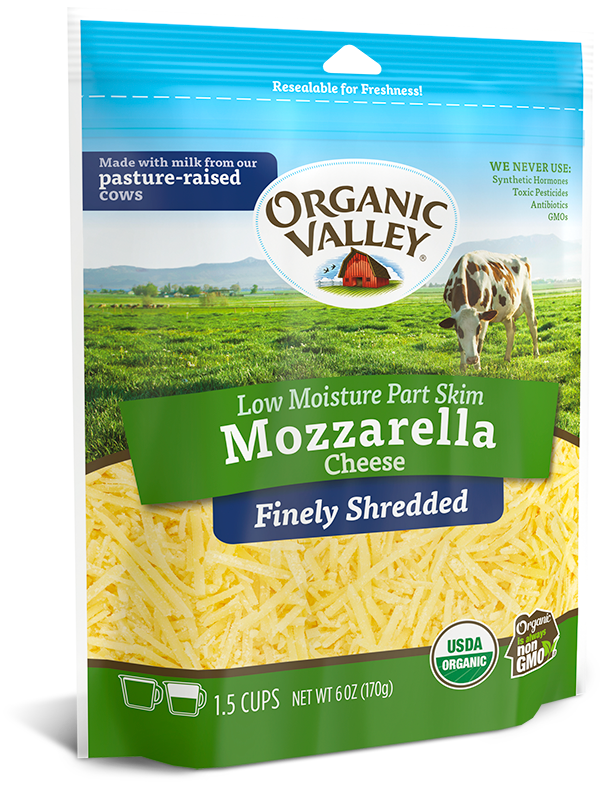 Finely Shredded Low Moisture Mozzarella, Part Skim, 6 oz