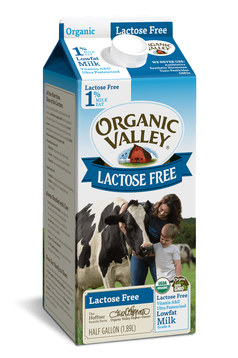 Lactose-Free 1% Milk, Ultra Pasteurized, Half Gallon