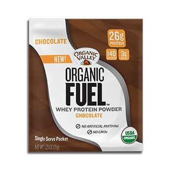 Chocolate Organic Fuel Protein Powder, Single-Serve Packet