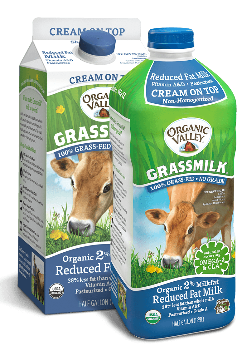 Reduced Fat 2% Cream on Top Grassmilk, Half Gallon