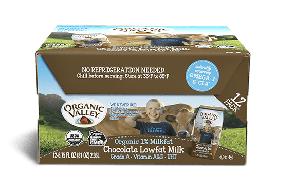 Single-Serve Chocolate Lowfat 1% Milk, 12 pack