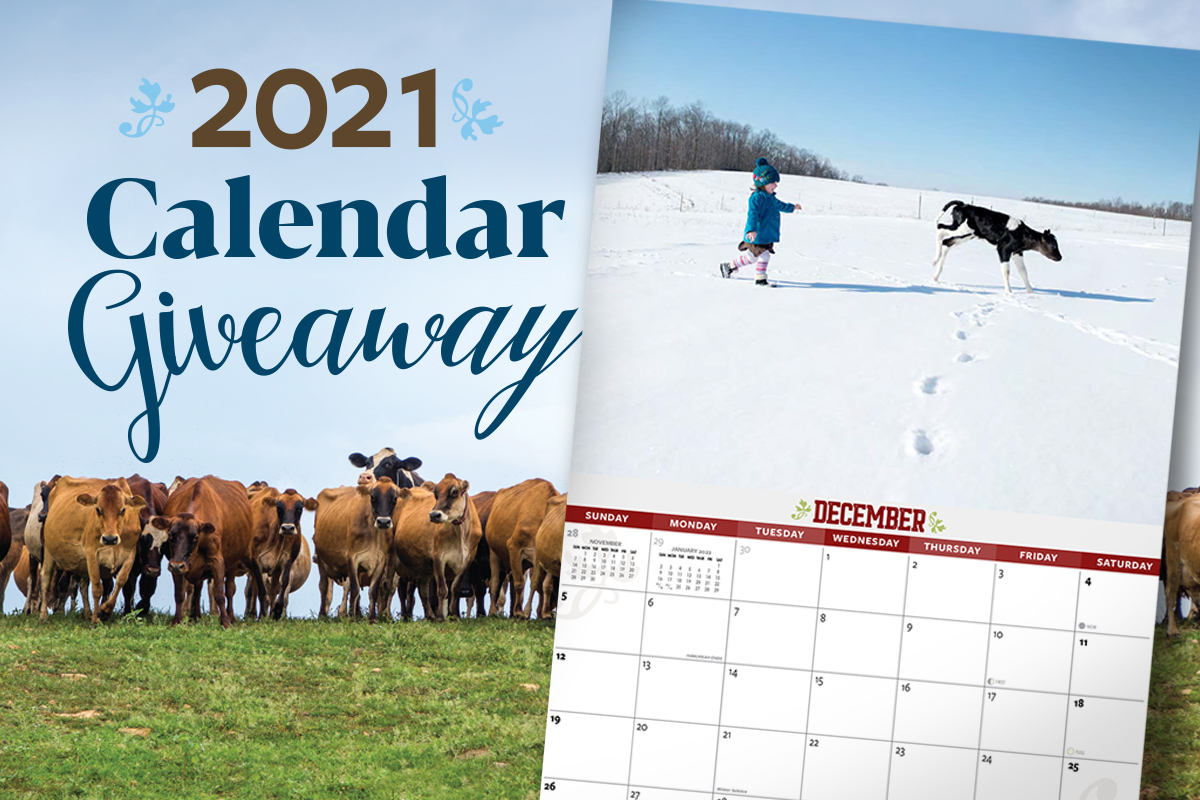 Win a 2021 Organic Valley calendar!
