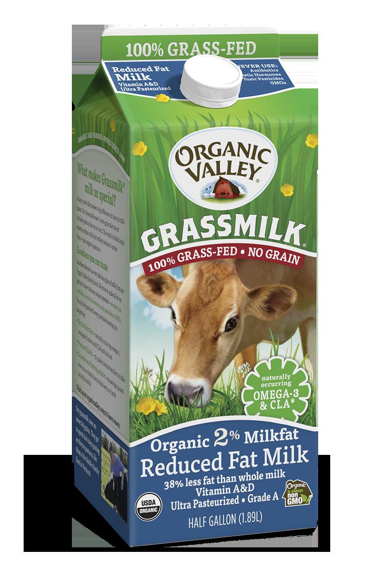 Reduced Fat 2% Grassmilk, Half Gallon