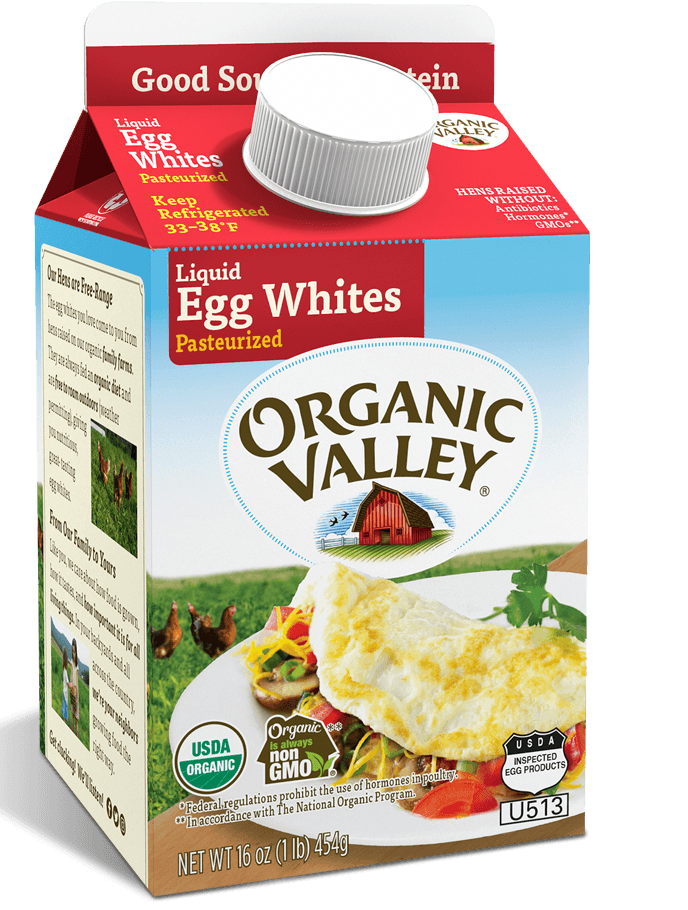 Egg Whites, Pasteurized, 16 oz
