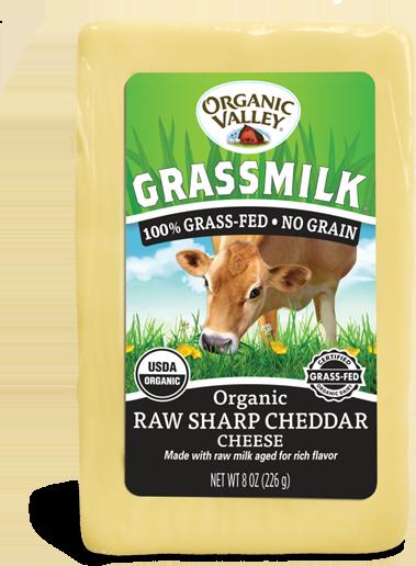 Grassmilk Raw Sharp Cheddar, 8 oz
