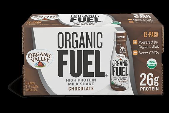 Chocolate Organic Fuel Protein Shake, 12 pack