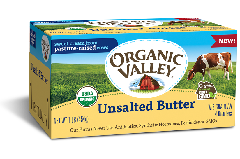 Unsalted Butter, 1 lb, 4 quarters