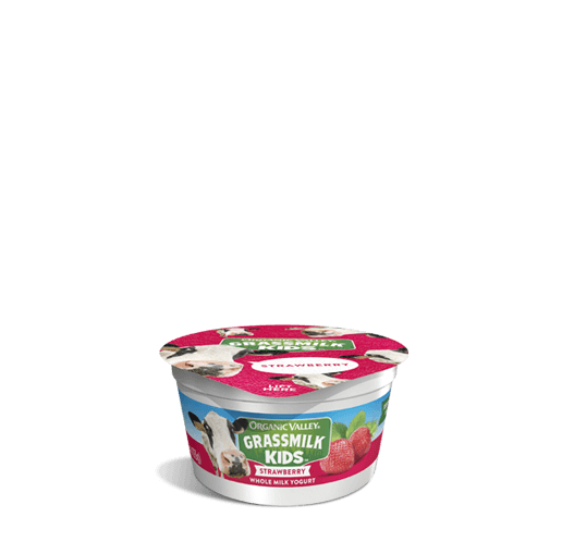 Strawberry Grassmilk Kids Yogurt Cup, 4 oz