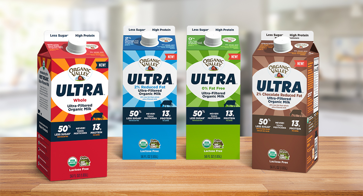 Organic Valley Ultra Filtered, High Protein Milk.