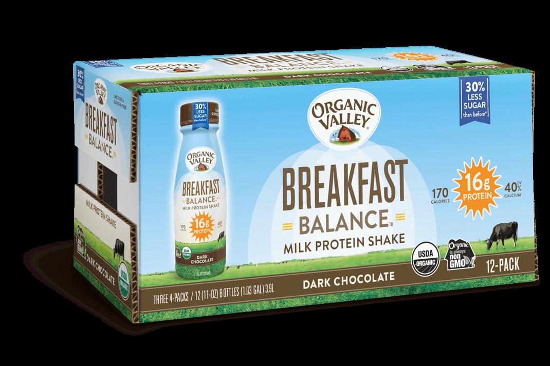 Dark Chocolate Breakfast Balance Protein Shake, 12 pack