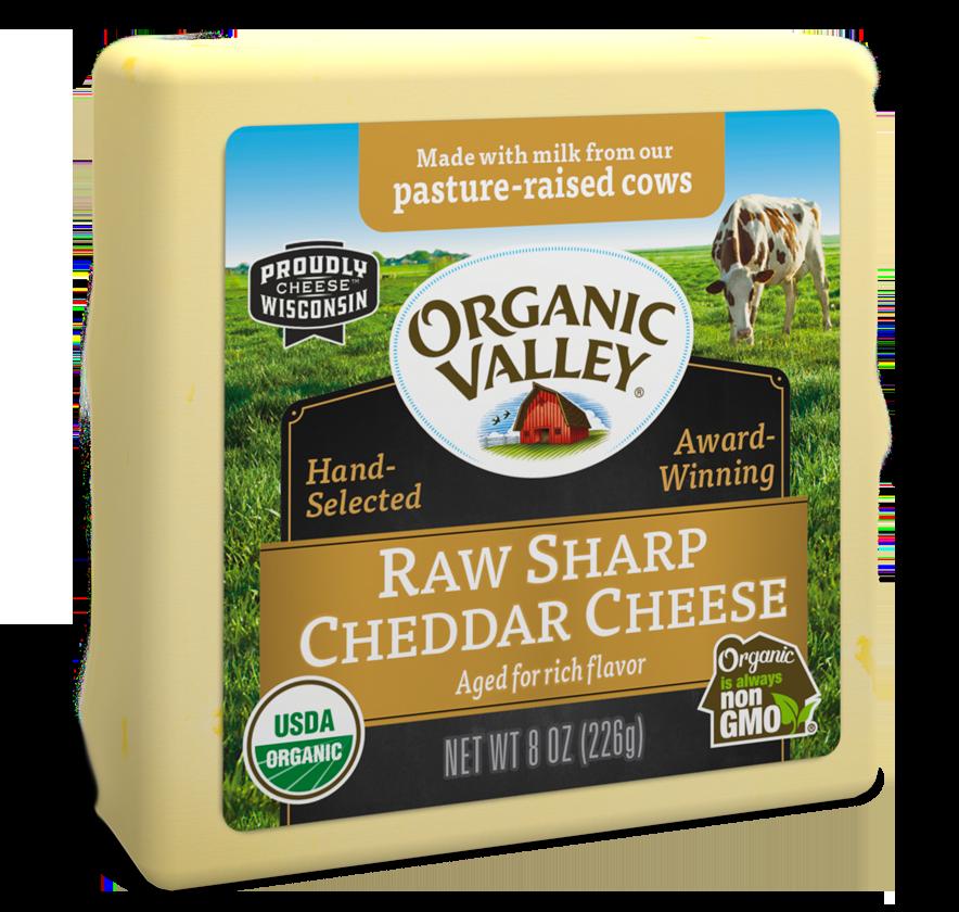 Raw Sharp Cheddar, 8 oz