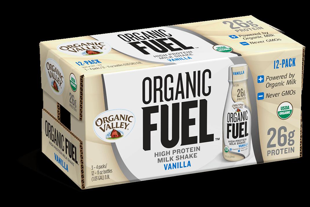 Vanilla Organic Fuel Protein Shake, 12 pack