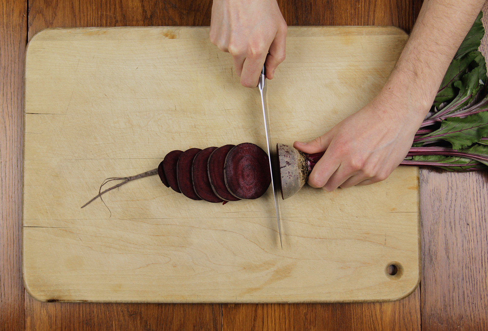 Slicing Up Beets.