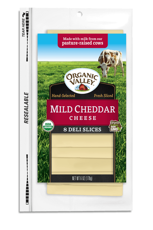 Mild Cheddar Slices, 6 oz