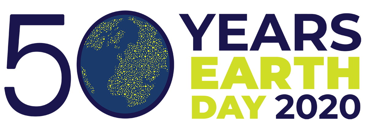 The 50 years of earth day 2020 logo