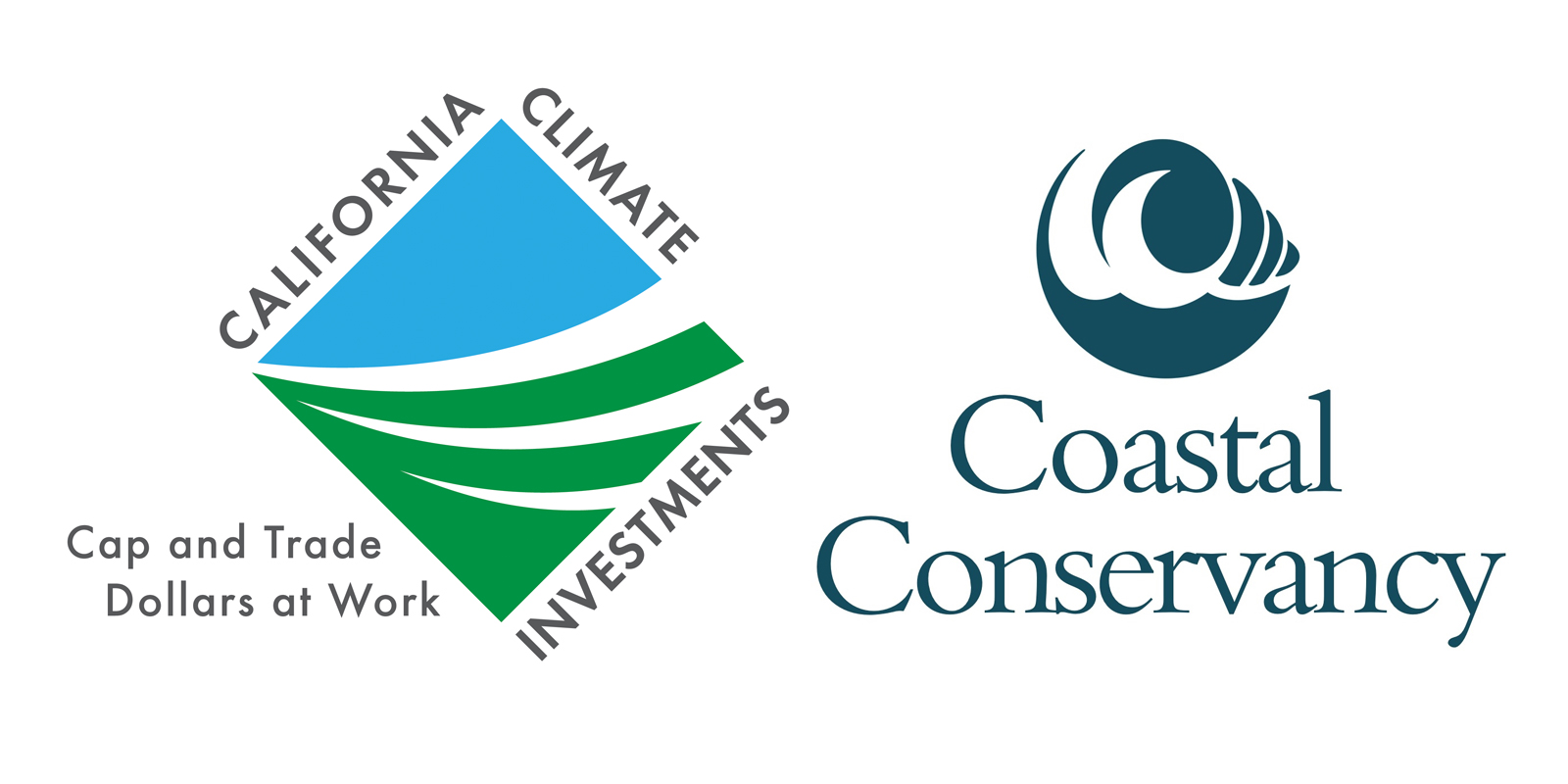 CA Climate Investments Logo and Costal Conservancy Logo.