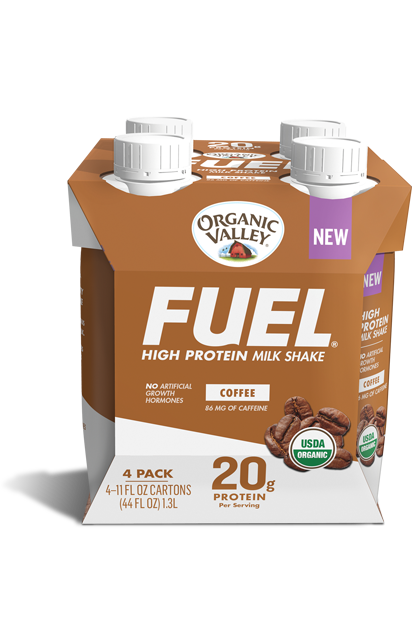 Coffee Organic Fuel Protein Shake, 4 pack
