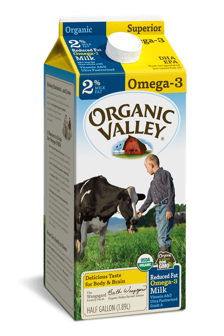 Omega-3 Reduced Fat 2% Milk, Ultra Pasteurized, Half Gallon