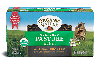 Pasture Butter, Cultured, 1 lb, 4 quarters