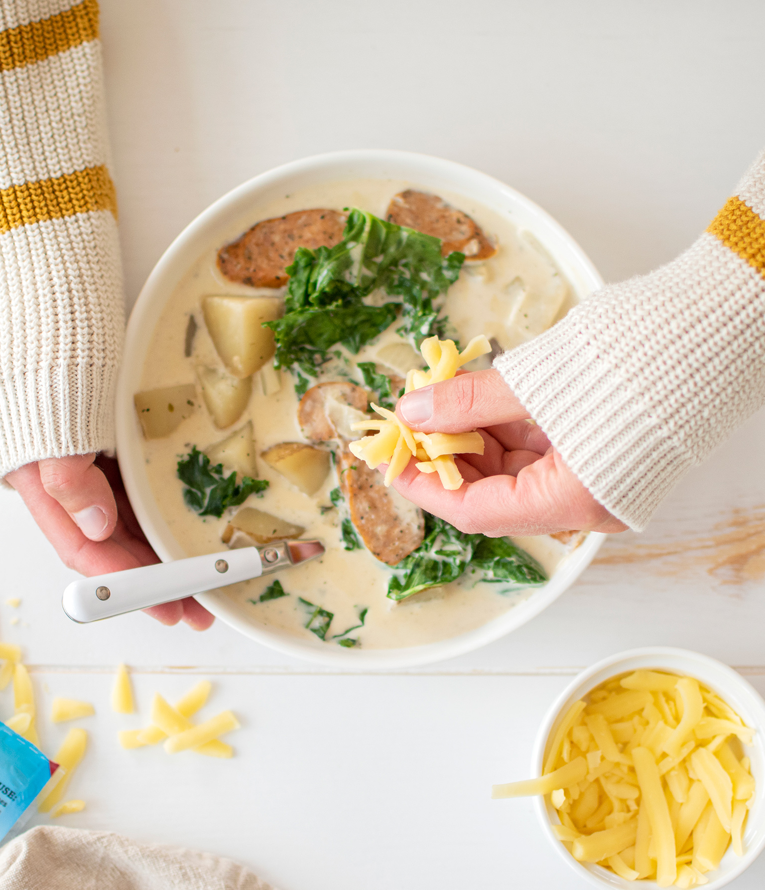 Creamy Sausage, Potato and Kale Soup