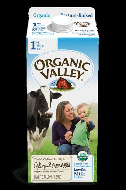 Lowfat 1% Milk, Ultra Pasteurized, Half Gallon