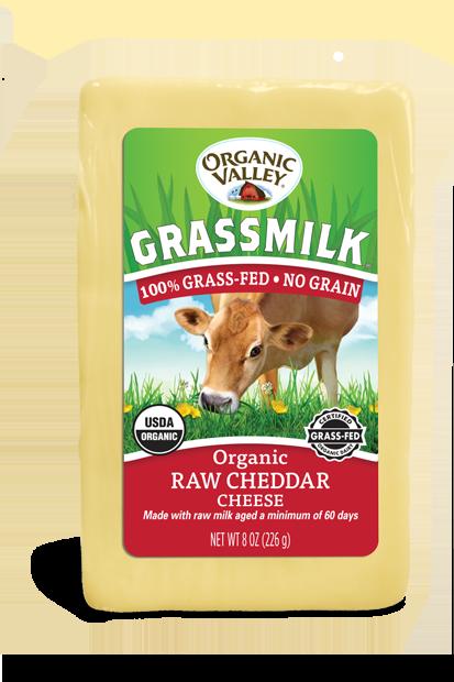 Grassmilk Raw Cheddar, 8 oz