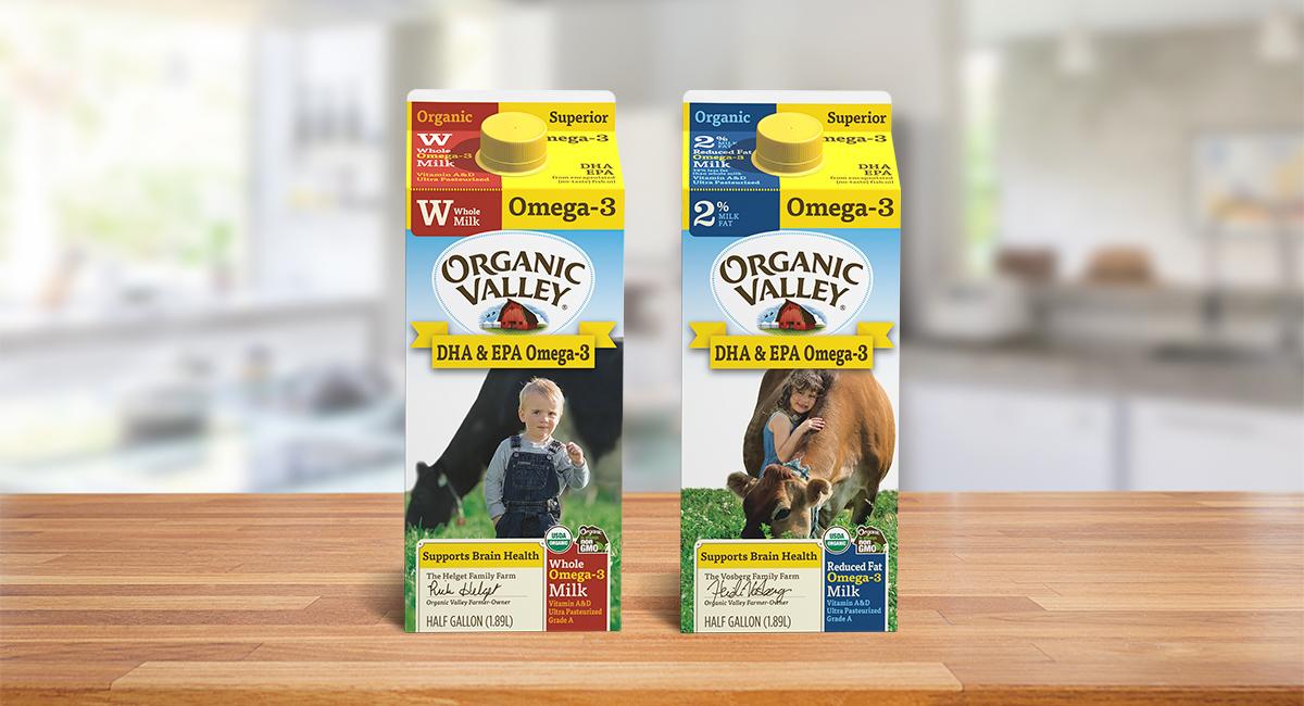 Omega-3 Organic Milk.